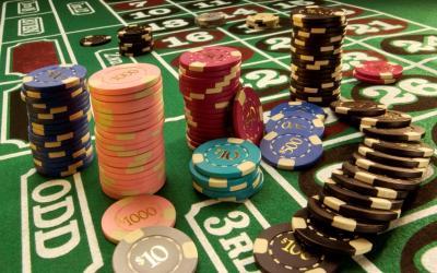 jetons casino tapis